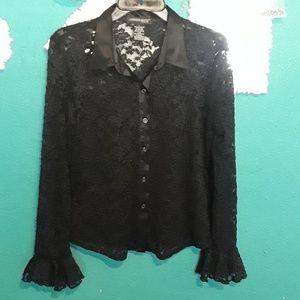 Jonathan martin black lace top